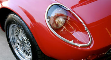Design - close up of CalSpyder headlight